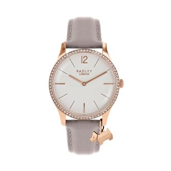Radley Ladies Taupe Cubic Zirconia Dial Watch - Product number 9734155