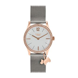 Radley Ladies' White Dial Silver Mesh Bracelet - Product number 9734236
