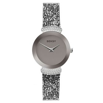 Seksy Rocks® Rhodium Plated Bracelet Watch - Product number 9734465