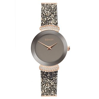 Seksy Rocks® Rose Gold Plated Bracelet Watch - Product number 9734473