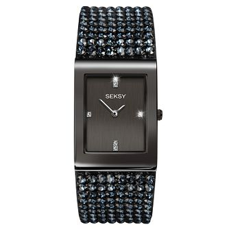 Seksy Gun Metal Plated Bracelet Watch - Product number 9734643