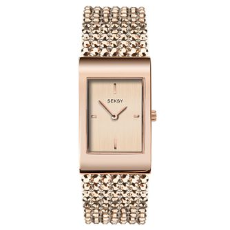 Seksy Rose Gold Plated Bracelet Watch - Product number 9734651