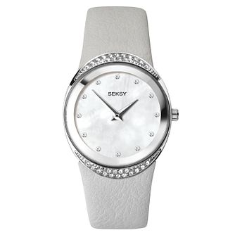 Seksy Grey Leather Strap Watch - Product number 9734716