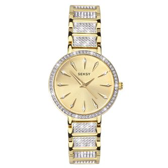 Seksy Two-Tone Gold Plated Bracelet Watch - Product number 9734732