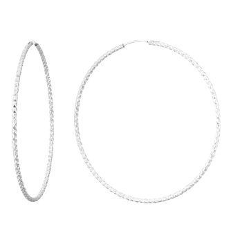 Silver 60mm Diamond Cut Hoops - Product number 9735267