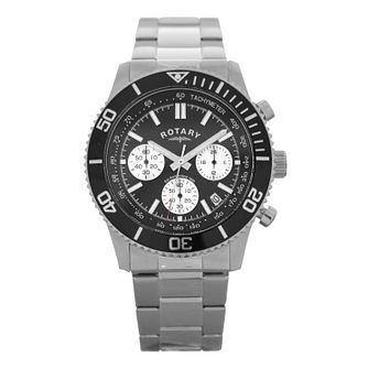Rotary Men's Stainless Steel Chronograph Watch - Product number 9735992