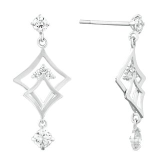 9ct White Gold Fancy Drop Earrings - Product number 9736735