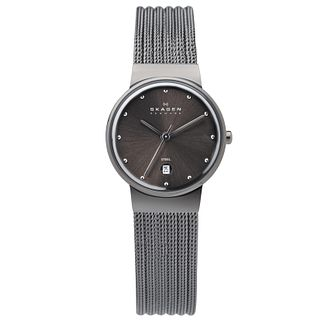 Skagen Ladies' Black Dial Black Mesh Bracelet Watch - Product number 9737499
