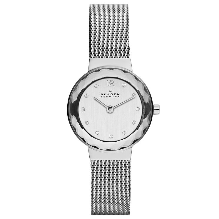 Skagen Ladies' Silver Dial Mesh Bracelet Watch - Product number 9737510