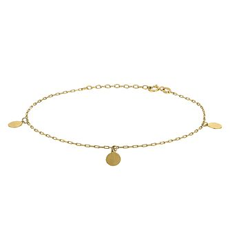 9ct Yellow Gold 3 Open Disc Bracelet - Product number 9739629