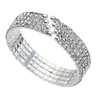 Four Row Stone Set Cuff Bangle - Product number 9741518