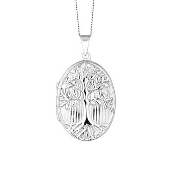 Silver Tree of Life Oval Locket - Product number 9742409