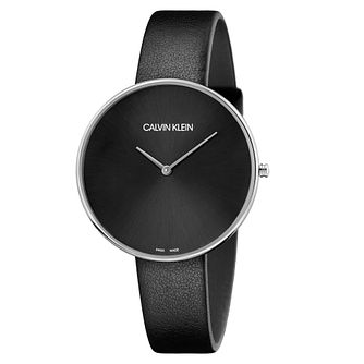 Calvin Klein Full Moon Ladies' Black Leather Strap - Product number 9743898