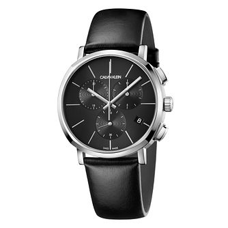 Calvin Klein Posh Men's Chronograph Black Strap Watch - Product number 9743960