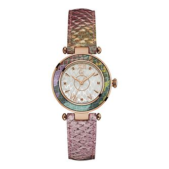 Gc Floral Dream Ladies' Grey Patterned Strap Watch - Product number 9743987