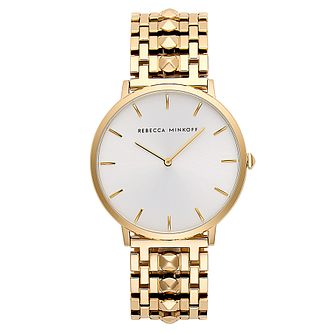 Rebecca Minkoff Major Ladies' Gold Plated Bracelet Watch - Product number 9744797