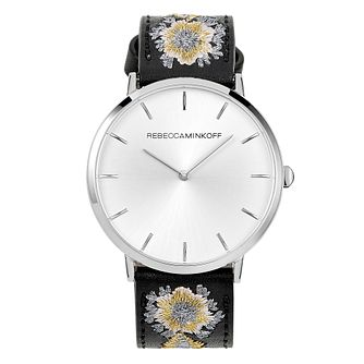 Rebecca Minkoff Major Ladies' Embroidered Leather Watch - Product number 9745610