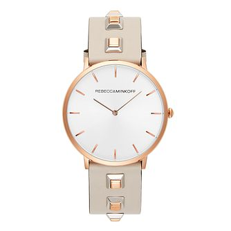 Rebecca Minkoff Major Ladies' Grey Studded Strap Watch - Product number 9745947