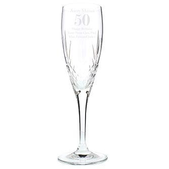 Personalised Big Age Cut Crystal Champagne Flute - Product number 9746080