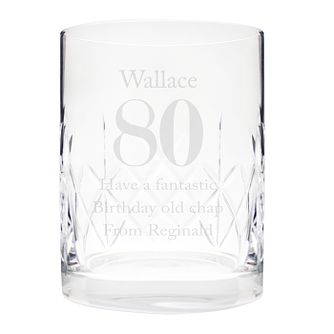 Engraved Big Age Cut Crystal Whisky Tumbler - Product number 9746099