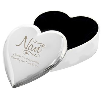 Engraved Nan Swirls & Hearts Trinket Box - Product number 9746188