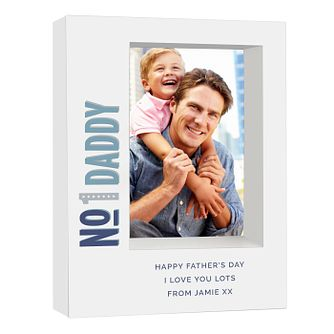 Personalised No.1 5x7 Box Photo Frame - Product number 9746293