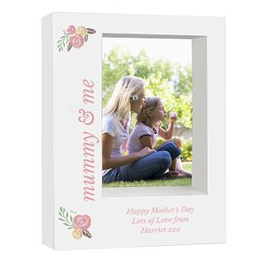 Personalised Floral Bouquet 5x7 Box Photo Frame - Product number 9746307