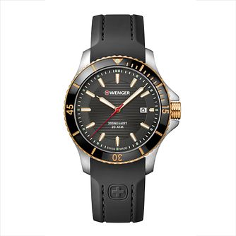 Wenger Seaforce Men's Quartz Black Silicone Strap Watch - Product number 9746455