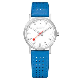 Mondaine Blue Leather SBB Classic Strap Watch - Product number 9746544
