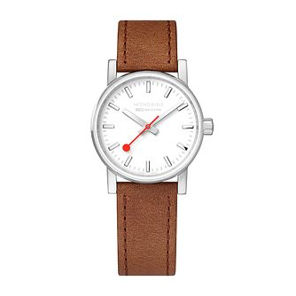 Mondaine SBB evo2 Ladies' Brown Leather Strap Watch - Product number 9746579