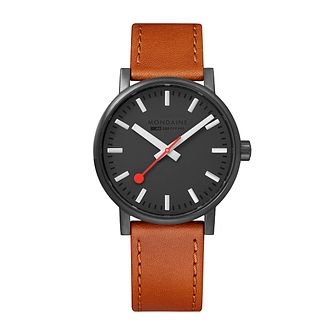 Mondaine SBB evo2 Ladies' Brown Leather Strap Watch - Product number 9746722