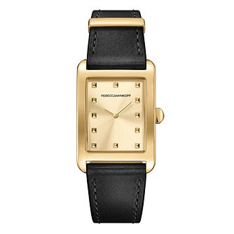 Rebecca Minkoff Moment Ladies' Gold Tone Leather Watch - Product number 9746765