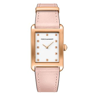 Rebecca Minkoff Moment Ladies' Rose Gold Tone Leather Watch - Product number 9746870