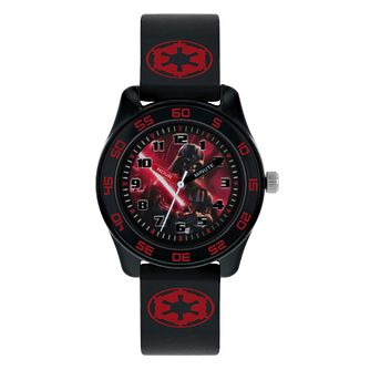 Darth Vader Black Case Black Rubber Strap Time Teacher Watch - Product number 9751939