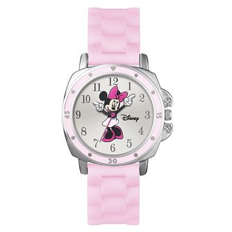 Minnie Mouse Silver Case Pink Rubber Strap - Product number 9751947