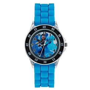 Rey Silver Case Blue Rubber Strap Time Teacher Watch - Product number 9752013