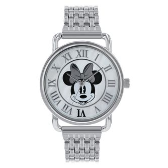 Minnie Mouse Silver Case Silver Bracelet Watch - Product number 9752099