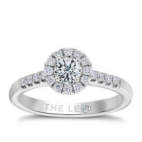 Leo Diamond18ct white gold 1/2ct I-I1 round halo ring - Product number 9755888