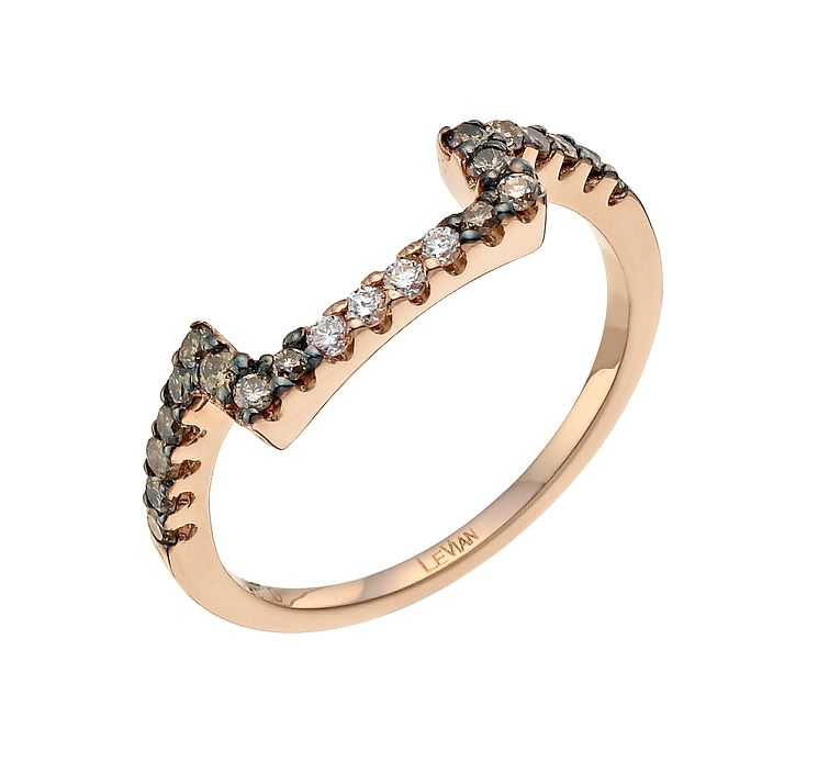 Le Vian 14ct Strawberry Gold Chocolate Diamond band - Product number 9759786