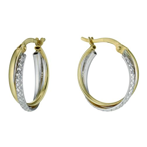 Together Bonded Gold Double Creole Earrings - Product number 9760199