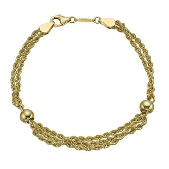 Together Bonded Silver & 9ct Gold Multi Rope Ball Bracelet - Product number 9771018
