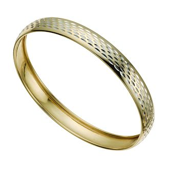 Together Silver & 9ct Bonded Gold Bangle - Product number 9771026