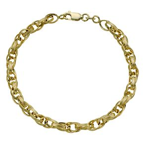 Together Silver & 9ct Bonded Gold Fancy Oval Link Bracelet - Product number 9771042
