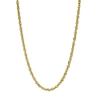 Together Bonded Silver & 9ct Gold Singapore Chain - Product number 9771344