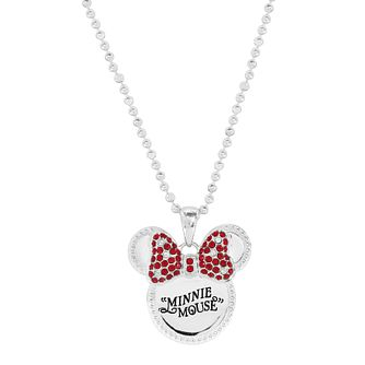 Ever After Disney Rhodium Plated Minnie Bow Pendant - Product number 9773355
