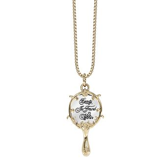 Ever After Disney Gold Plated Belle Enchanted Mirror Pendant - Product number 9773711