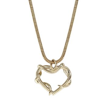 Ever After Disney Gold Plated Belle Twisted Heart Pendant - Product number 9773746