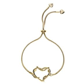 Ever After Disney Gold Plated Belle Twisted Heart Bracelet - Product number 9773886