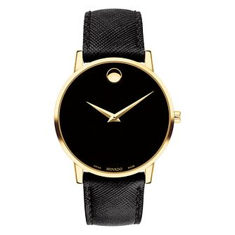 Movado Men's Museum Classic Black Strap Watch - Product number 9774335