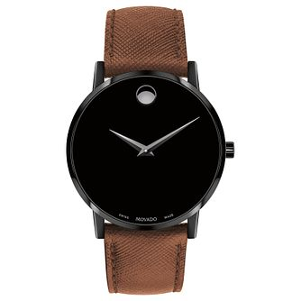 Movado Men's Museum Classic Brown Strap Watch - Product number 9774378